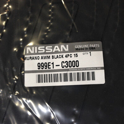 2015 2018 Nissan Murano All Season Black Rubber Floor Mats Set Genuine New OEM