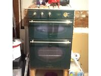 Green electric double oven
