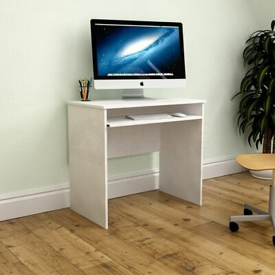 Huby Computer Desk Compact Laptop PC Study Table Keyboard Tray Home Office...