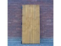 NEW WOODEN GARDEN GATE WITH 3 HEAVY DUTY HINGES SUPPLIED