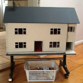 Dolls House, Grandad made! with some furniture