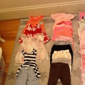 3-6 month baby girl's clothes - 50 items