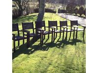 6 x WOODEN GARDEN CHAIRS - RENOVATION PROJECT