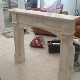 Fireplace surround marble effect resin very heavy constructed