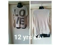 Age 12 years jumper