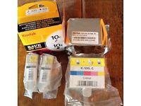 Kodak ink 2 x Colour 10c 2 x Black 10b NEW