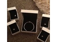Pandora bracelet and charms all boxed