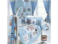 Babies R Us Bruin My Favourite Things Blue Nursery Set - Moses Basket, Bedding and Accessories