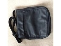 Men's designer JOHN ROCHA leather look messenger bag excellent condition
