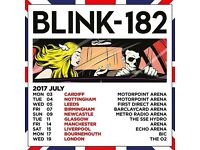 2 x Blink-182 Tickets, Leeds, Wed 5 July