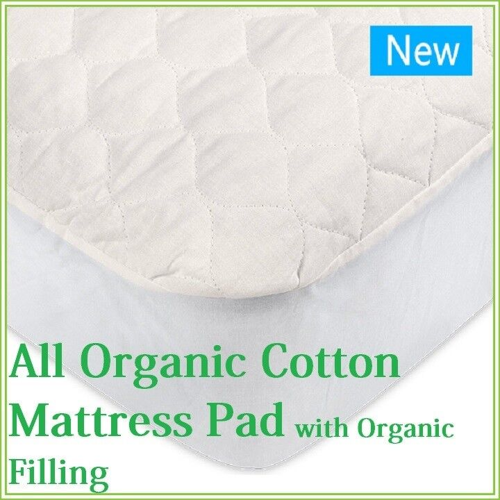 Organic Cotton Mattress pad with Organic Filling| Organic Te