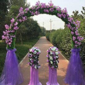 Purple flower arch