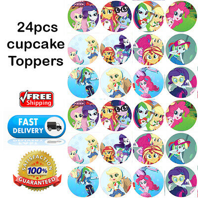 Equestria Girls Party Supplies (🏅24 Equestria girls EDIBLE CUPCAKE TOPPER Cake little pony BIRTHDAY Party)