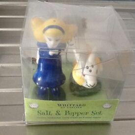 NEW Whittard of Chelsea Ceramic Novelty Salt & Pepper Set £10
