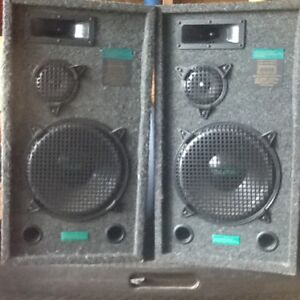 Grafdale 300w speakers (2) - $80 GREAT SOUNDING AND LOUD!