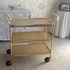 Vintage Gold hostess trolley
