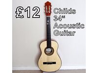 Child's 34 inch Acoustic Guitar