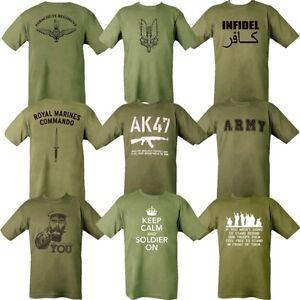 MILITARY-T-SHIRT-100-COTTON-MARINE-PARA-SAS-INFIDEL-WW1-WW2-KITCHENER-KEEP-CALM