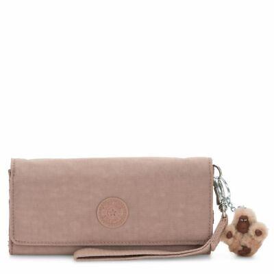 NWT Kipling AC8150 Rubi Wristlet Wallet Antique Rose Tonal $48