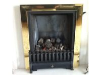 Focal point gas fire