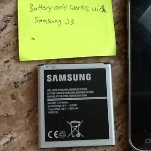 "New battery for Samsung J3 ""Only"" Phone"