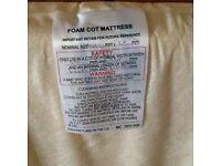 Cot bed mattress.