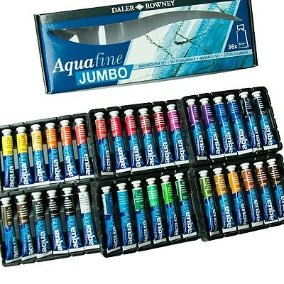 Daler Rowney Aquafine Jumbo watercolour  paint set, 36 x 8ml