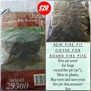Round Fire Pit Cover - NEW