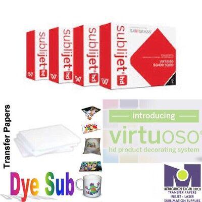 Sawgrass Virtuoso Ink Cartridges Sg400sg800 Cmyk Set200 Sheets Dye Sub Paper