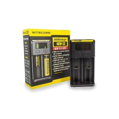 Nitecore NEW I2 - UK Model - Intelligent 18650 26650 18350  Battery Charger