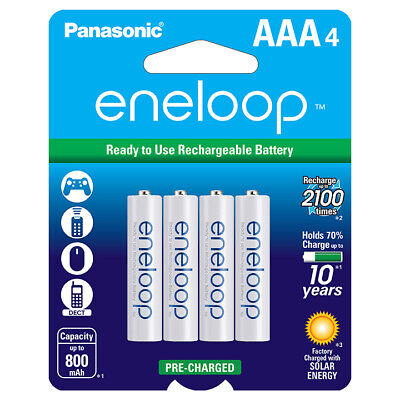 """Panasonic Eneloop """"AAA"""" Rechargable Batteries (4-Pack) for sale  Shipping to India"""