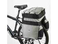 60L Bicycle Bag Bike Rear Rack Bag Pannier Double Side With Rain Cover