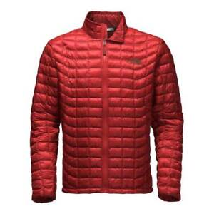 Northface Mens Thermoball Jacket Cardnial Red