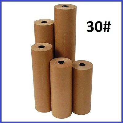 30 Wt Kraft Brown 1200 Roll Shipping Wrapping Void Fill Paper - 12 Sizes Avail