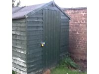Garden shed 8ft by 6ft buyer to dismantle Free to go