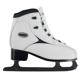 Roces white figure skates size Uk 5.5 - 5, euro 39. almost new, used for 30 mins