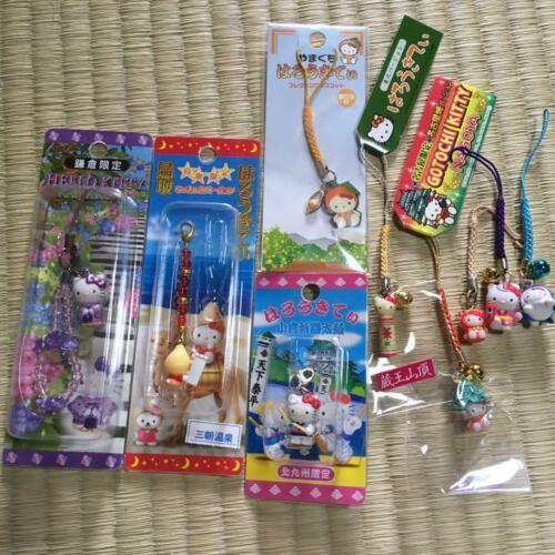 Vintage SANRIO Gotochi Hello Kitty Mini Keychain Set