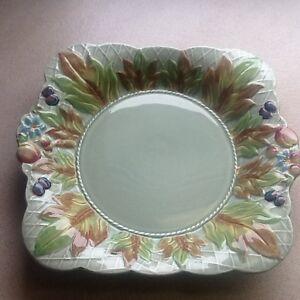 Unique 1930's Clarice Cliff square serving plate