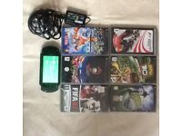 Psp handheld game console with games and charger great working condition