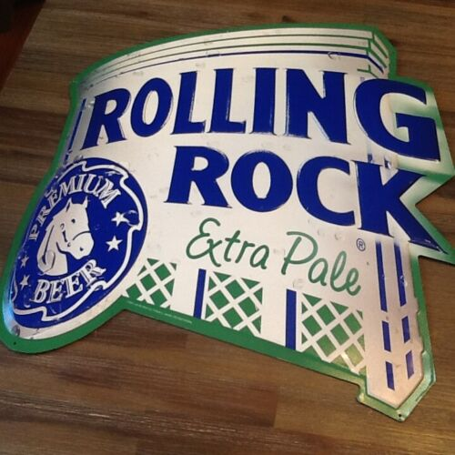 "ROLLING ROCK Tin Sign 20"" X 20"" hipster steam punk man cave she shed"
