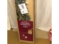 Xmas tree still in box unused 7ft 6 inch high with acorns & berrys