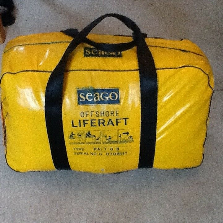 Seago 6 valise offshore liferaft type raft-g-6 sold un-serviced as seen    in Poole, Dorset   Gumtree