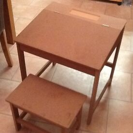 For sale, Childs desk and stool.