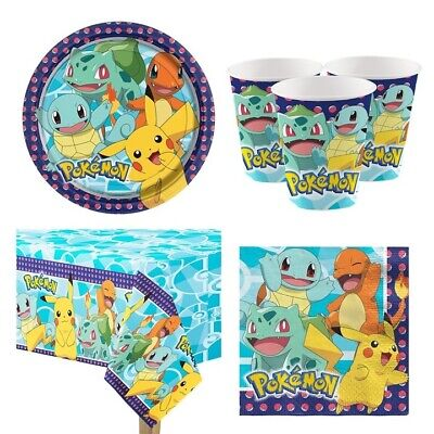 rty Deko Set Kindergeburtstag für 8 Kinder (Pokemon Geburtstagsparty)