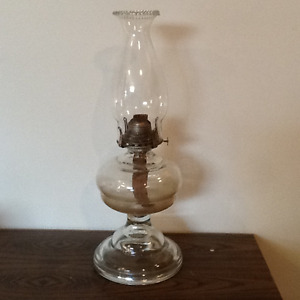 Coal Oil Lamp 17 inches tall