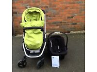 3 in 1 Mothercare Xpedior pram and pushchair travel system package.