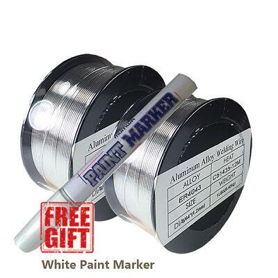2 X 1 Lb Aluminum 4043 Mig Welding Wire Er4043 .035 0.9mm 1 Lb 2 Pk