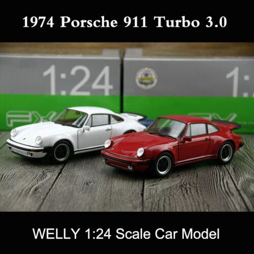 Turbo 3.0 Porsche 911 1974-1:24 WELLY   *NEW* schwarz 964