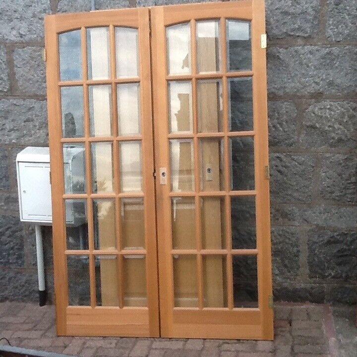 Oak Doors X 5 2x 15 Panel Glazed Doors 1 Pair French Glazed Doors