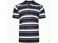 Mens short sleeve polo top